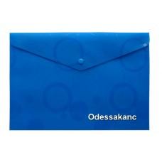 Папка - конверт на кнопке А4, РР 200мкн ROMANTIC, голубой., 5605, SOZ