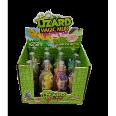 Лизун в бутылке с фигуркой(ящерицы) густой