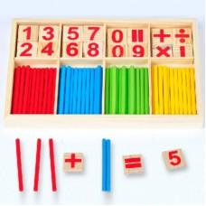 Деревянная математическая игра Учимся считать