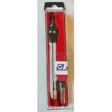 Циркуль красная подложка, 2 предмета 18002.